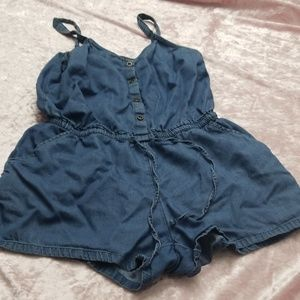 Old navy jean rompers
